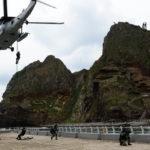 竹島防衛訓練