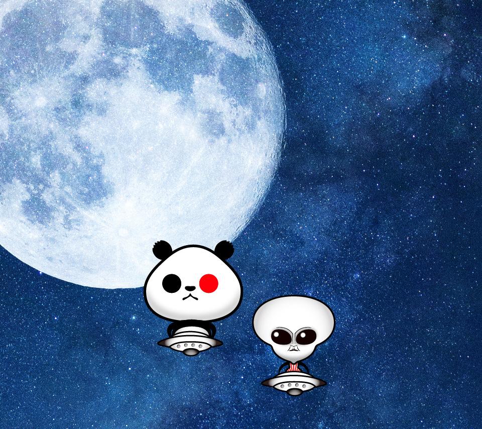 宇宙UFOスマホ壁紙