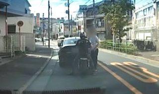 山口容疑者追突車両