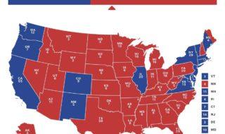 米大統領選当選マップ