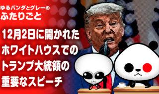 トランプ大統領の重要なスピーチ