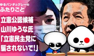 立憲公認候補の山川ゆうな氏『立憲民主党に騙されないで!』