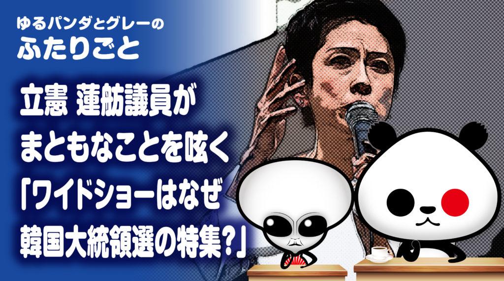 立憲民主党 蓮舫議員
