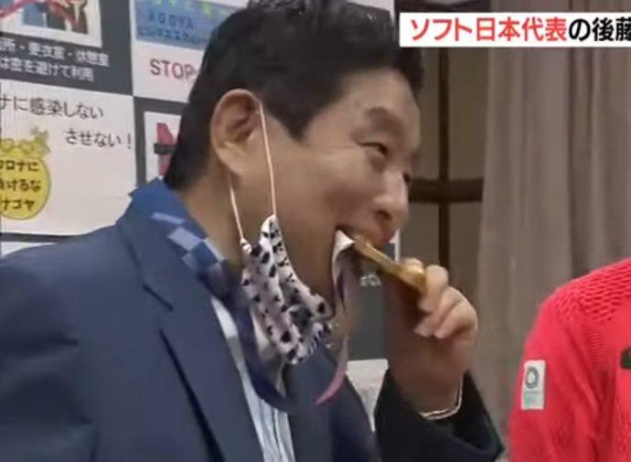 金メダルがぶりで河村市長