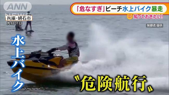 水上バイク集団