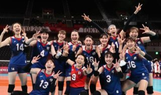 韓国、女子バレーで日本に勝利