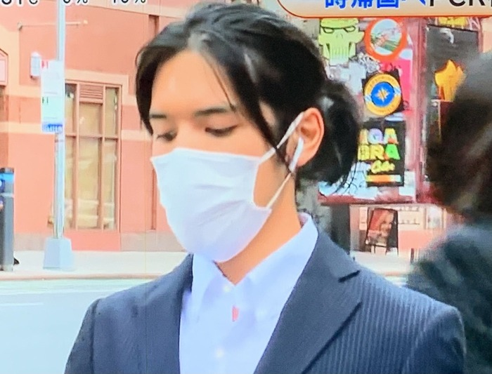 小室圭氏の最新ヘアスタイル